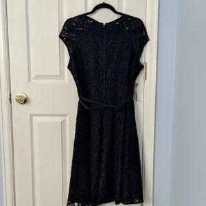 Navy Lace overlay dress